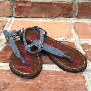 Sam Edelman Girls Size 11 denim sandals